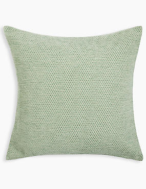 Spotted Chenille Cushion, GREEN MIX, catlanding