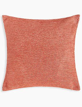 Spotted Chenille Cushion, TERRACOTTA MIX, catlanding