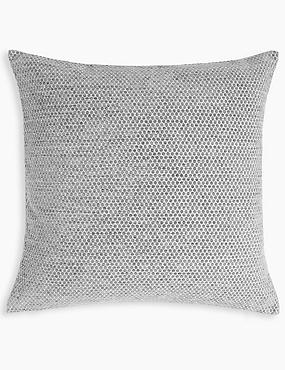 Spotted Chenille Cushion, GREY, catlanding