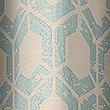 Hexagonal Geometrical Print Eyelet Curtains, DUCK EGG, swatch