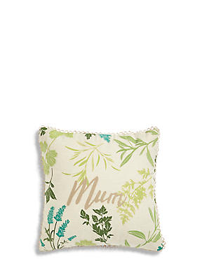 Botanical Mini Mum Cushion, , catlanding