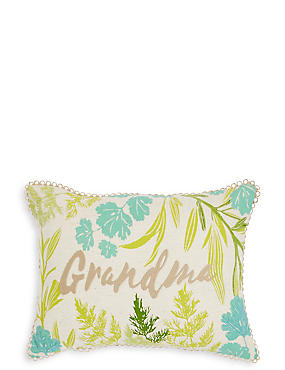 Botanical Grandma Cushion, , catlanding