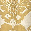 Floral Damask Jacquard Curtain, OCHRE, swatch