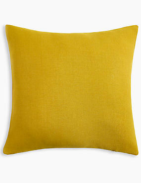 Banbury Cushion, OCHRE, catlanding