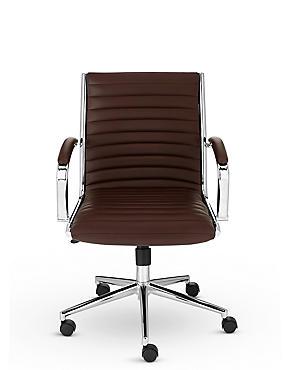 Latimer Office Chair - Brown, , catlanding