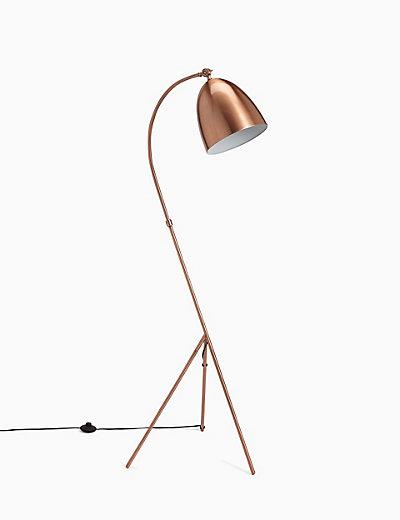 Leaning tripod floor lamp ms for Modern tripod floor lamp marks and spencer