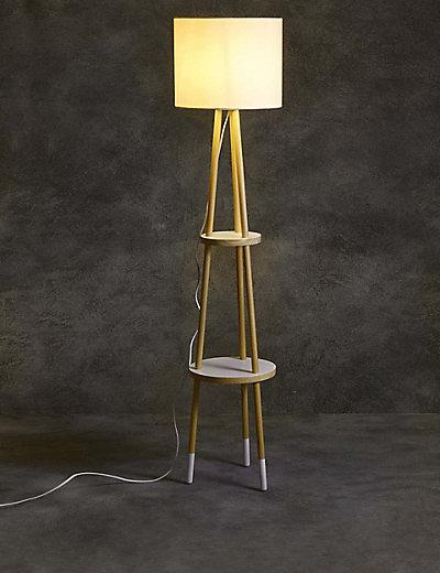 shelves floor lamp m s. Black Bedroom Furniture Sets. Home Design Ideas