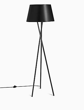Alexa Floor Lamp, BLACK, catlanding