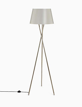 Alexa Floor Lamp, WHITE, catlanding