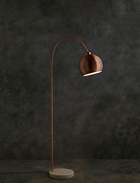 Archie Floor Lamp, COPPER, catlanding