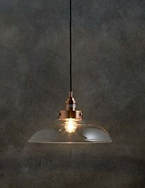 Rex Copper & Glass Shade Pendant
