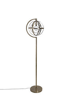 Laney Floor Lamp, ANTIQUE BRASS, catlanding