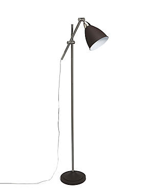 Leda Task Floor Lamp, DARK GREY, catlanding