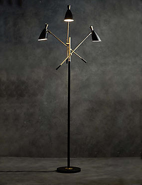 Samuel 3 Head Task Floor Lamp