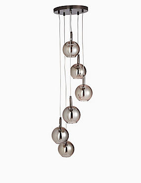 Imogen Mink Glass Ball Cluster Light