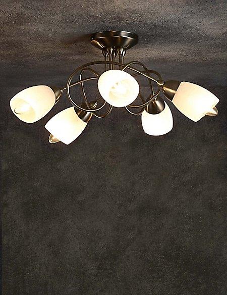Andrea 5 light flush lamp ms andrea 5 light flush lamp aloadofball Image collections