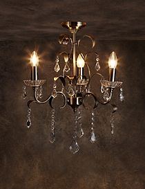 Faye 3 Light Flush Chandelier