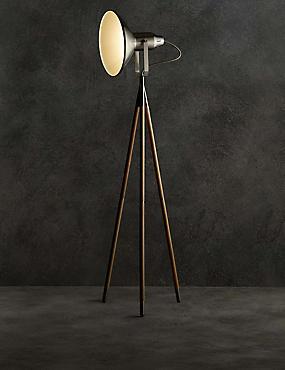Jenson Floor Lamp, DARK BROWN, catlanding