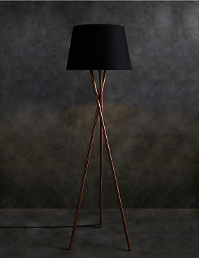 Alexa Floor Lamp, COPPER, catlanding