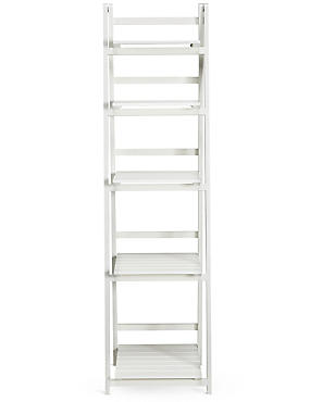 Nagoya Folding Shelving High White