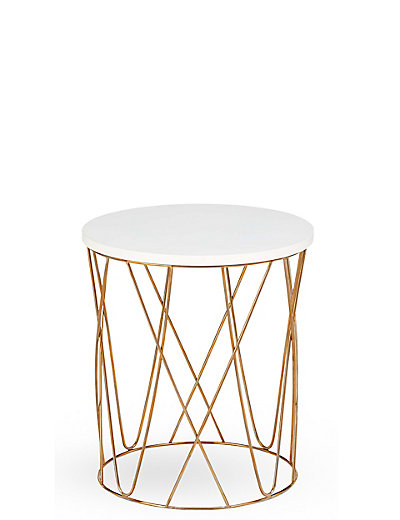 Lena copper side table m s for Table y copper