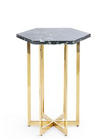 Ava Green Marble Side Table