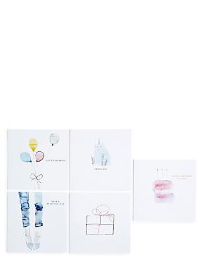 Illustration Pack Birthday Card Bundle , , catlanding