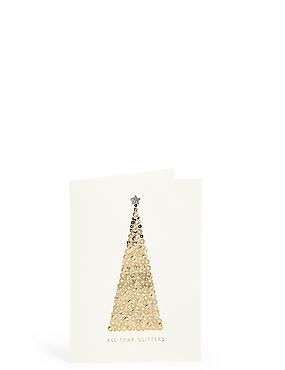 All That Glitters Gold Tree Christmas Charity Cards Pack of 6