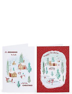 Winter Scene Christmas Charity Cards Pack of 20, , catlanding