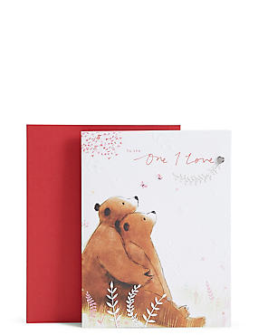 two bears one i love valentines day card