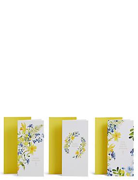 Floral Illustration Easter Pack of 12, , catlanding