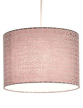 Geometric Patterned Drums Lamp Shade