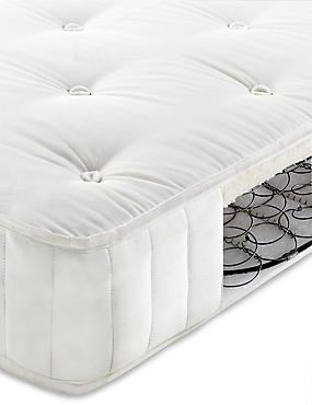 Essential Natural 325 Cotton Open Coil Mattress, WHITE, catlanding