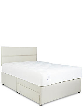 Natural 1050 Headboard, Mattress & Divan Set, NATURAL, catlanding