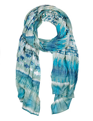 Modal Blend Lightweight Painted Striped Scarf Clothing