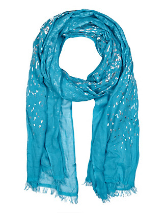 Animal Foil Scarf with Modal Clothing