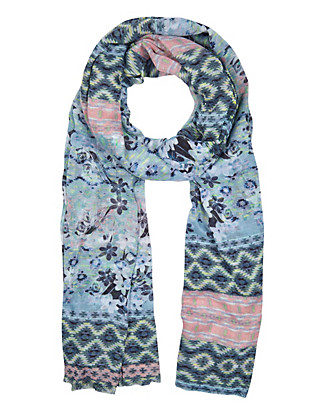 Lightweight Aztec Floral Scarf Clothing