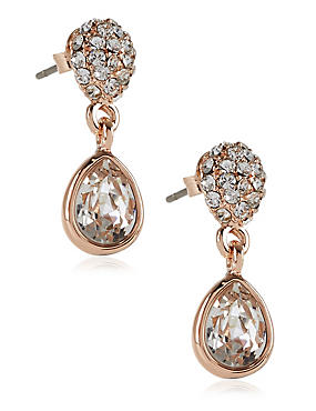 Pavé Pear Diamanté Earrings MADE WITH SWAROVSKI® ELEMENTS