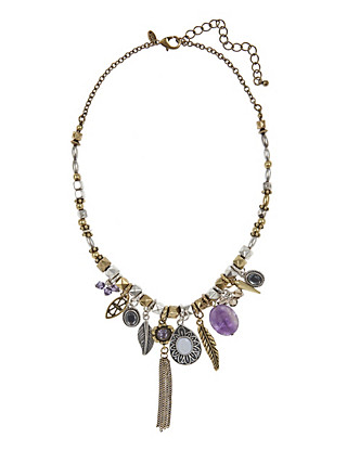 Multi-Faceted Assorted Charm Necklace Clothing