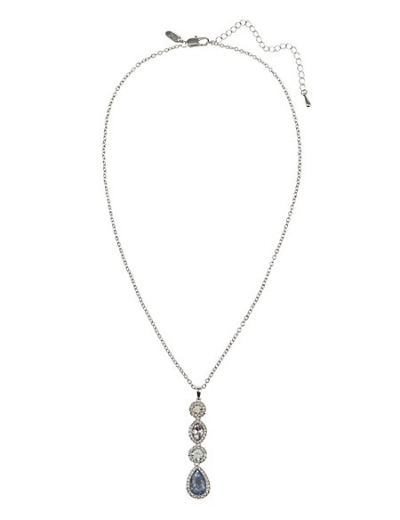 Platinum Plated Pendant Necklace
