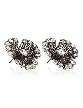 Diamanté Bud Stud Earrings