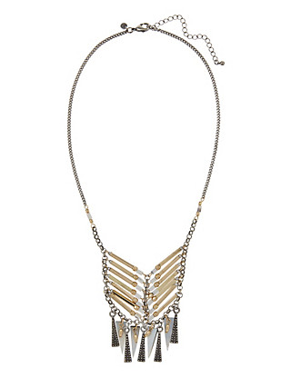 Spike & Bar Collar Necklace Clothing