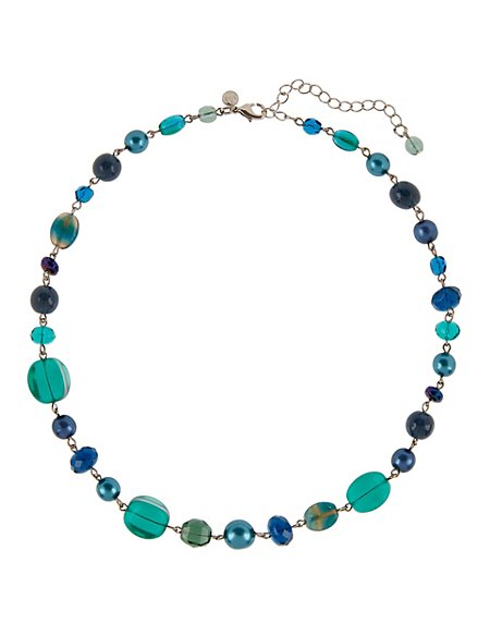 Cube Bead Collar Necklace