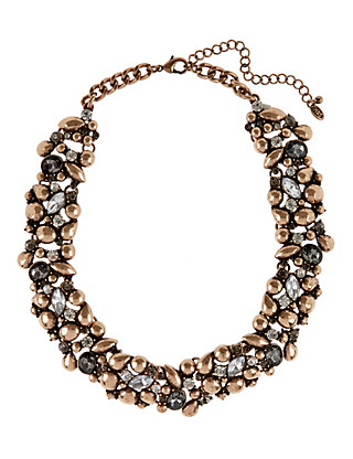 Metal Stone Collar Necklace Clothing