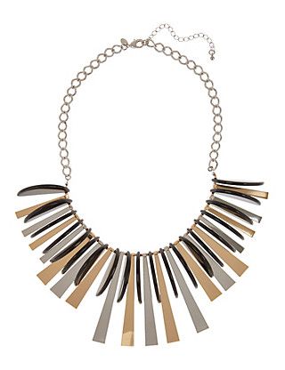 Semi Circular & Stick Collar Necklace Clothing