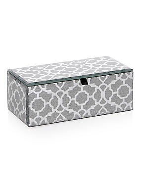 Rectangular Glitter Effect Medium Jewellery Box