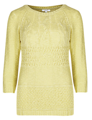 Cable Knit Jumper Clothing