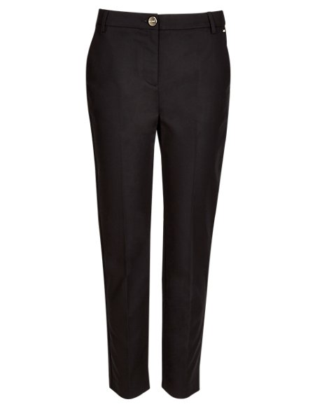 Roma Cotton Rich Ankle Grazer Trousers