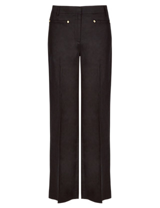 Roma Pure Linen Easy to Iron Wide Leg Trousers Clothing