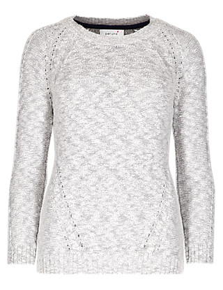 Textured Pointelle Jumper Clothing